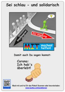 """Plakat """"Sei schlau und solidarisch"""" zur Aktion Impfen gegen CoVid-19"""
